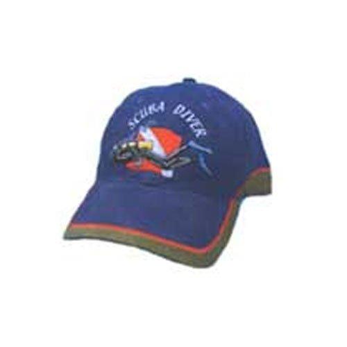 Diver Hat (Trident Embroidered Scuba Diver Blue Denim Hat)