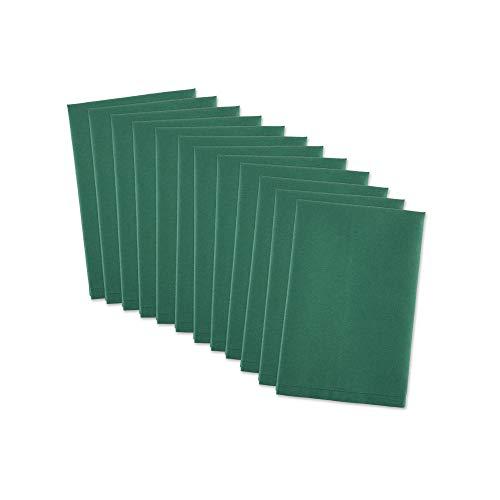 DII 100% Cotton, Machine Washable Everyday Basic Buffet Napkin, 16 x 16, Dark Green, Set of 12