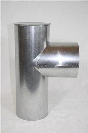Tubo de humos, estufa cápsula rodillera Universal 150 diámetro de 0,6 mm de grosor: Amazon.es: Bricolaje y herramientas