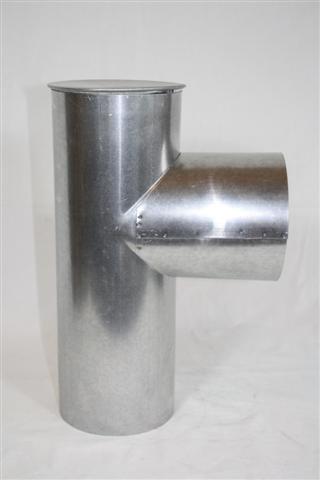 Tubo de humos, estufa cápsula rodillera tapa 110 diámetro 0,6 mm de grosor: Amazon.es: Hogar
