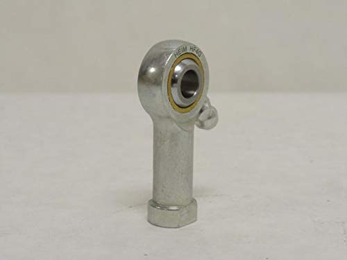 """RBC Heim Bearings HF4G 0.2500"""" Bore, .2500-28 Threads Female Rod End Bearing, 4 Piece Metal-To-Metal With Grease Fitting"""