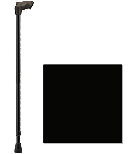 NOVA Palm Grip Orthopedic Handle Walking Cane for Left Hand, Lightweight and Adjustable, Color Black