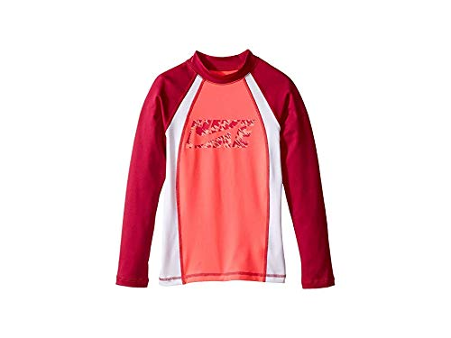 Nike Kids Girl's Splash Long Sleeve Hydro Top (Big Kids) Racer Pink Large