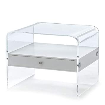 Wink Design California Table De Chevet Transparente Amazon Fr