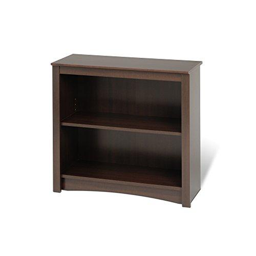 Espresso 2-shelf Bookcase (Living Maple Bookcase Room)