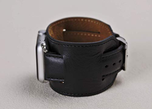 Handmade Cuff Apple watch Band 38mm, 40mm, 44mm Men, Cuff Watch Band 42mm Men, Leather cuff apple watch band, iWatch 42mm, Apple Watch Strap 38mm, Leather Apple Watch Strap, Gift For Men, Gift ()