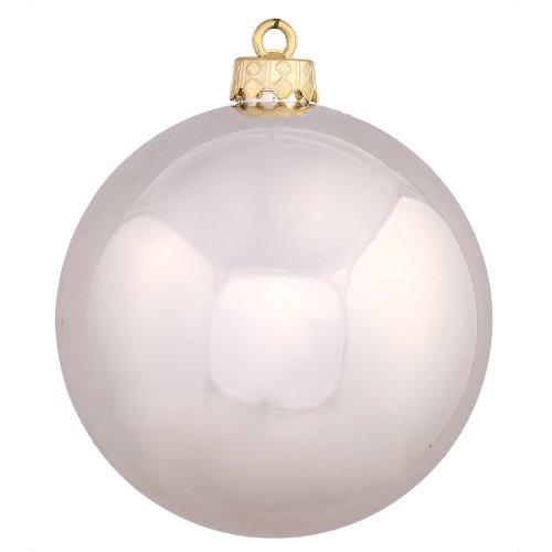 Vickerman Shatterproof Shiny Ball Ornaments, 32 per Box, 3'', Champagne by Vickerman
