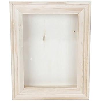darice 9184 76 natural wood shadow box frame 5 inch - White Shadow Box Frame