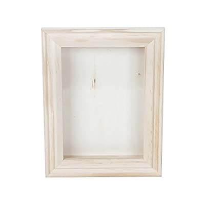 Darice 9184-76 Natural Wood Shadow Box Frame, 5-Inch - Decorate your own frame with shadow box Crafted from natural wood Shadow box can be used as a traditional frame for photographs, artwork, and other flat items - picture-frames, bedroom-decor, bedroom - 318hr8C%2BweL. SS400  -