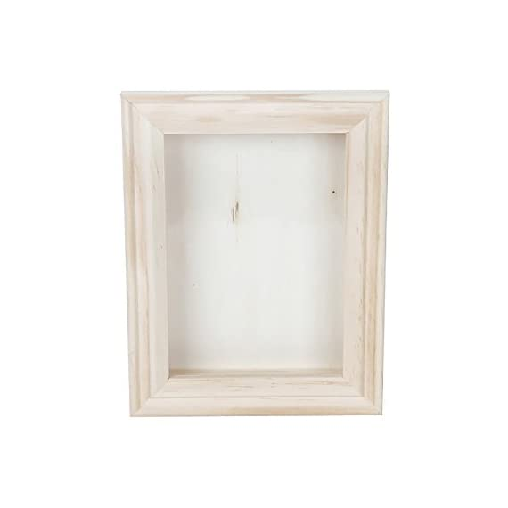 Darice Unfinished Wood Shadow Box: 5x7 Inches, White - Decorate your own frame with shadow box Crafted from natural wood Shadow box can be used as a traditional frame for photographs, artwork, and other flat items - picture-frames, bedroom-decor, bedroom - 318hr8C%2BweL. SS570  -