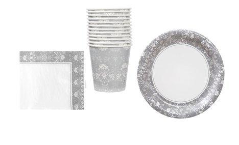 Floral Wedding Plates Napkin Serves