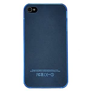 Blue Transparent Frosted Ultra-Thin Hard Shell Cover Case For Iphone 4S 4 --- COLOR:Purple