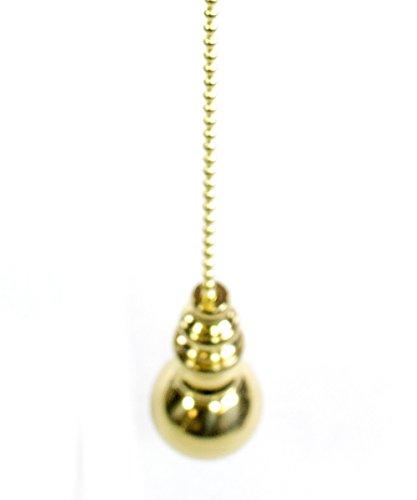 Polished Brass Sphere Fan Pull 1.5