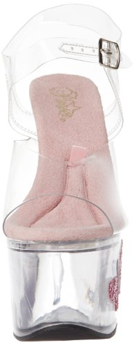Pleaser TIPJAR-708-7 Damen Plateau Sandalette Baby Pink