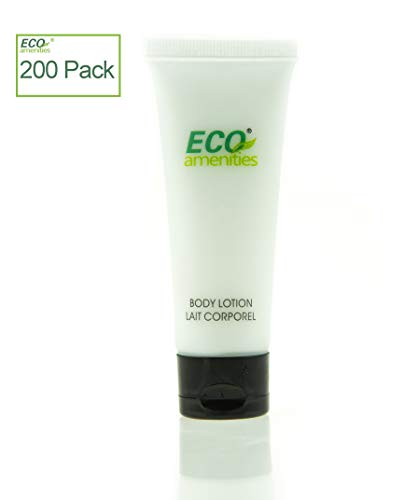 ECO Amenities Transparent Tube Flip Cap Individually Wrapped 30ml Body Lotion, 200 Tubes per Case