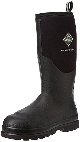 Met Guard Boot (Muck Chore Classic Tall Steel Toe Men's Rubber Work Boots w/Metatarsal Guard)