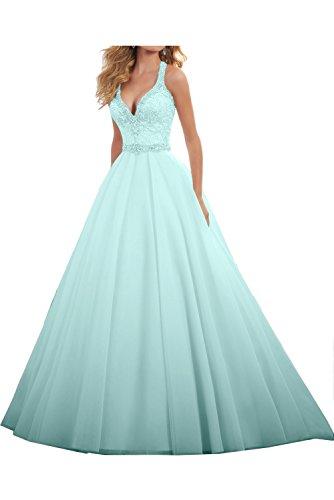 Linie Hochzeitskleid Ivydressing Ballkleid Damen A Liebling Himmelblau Lang Abendkleider Festkleid Steine 04rt47