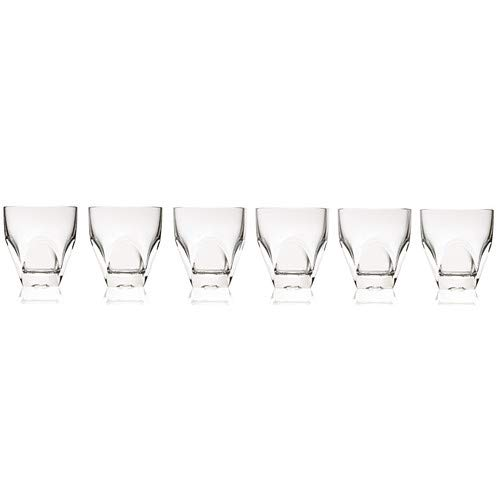 (OKSLO Diamonte 8 oz. crystal cocktail glass (set of 6) )
