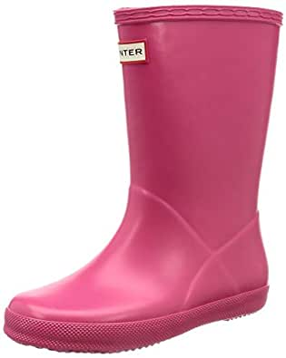 Hunter Kids Unisex Original Kids' First Classic Rain Boot (Toddler/Little Kid) Bright Pink 9 M US Toddler M