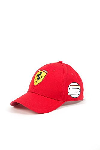 Scuderia Ferrari Red Sebastian Vettel Formula 1 Adjustable Team (Scuderia Ferrari Cap)