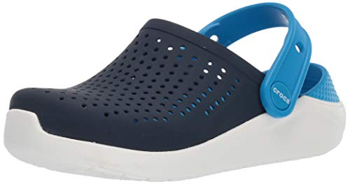 Crocs Kid's LiteRide Clog | Casual Athletic Shoe for Toddlers, Boys, and Girls, Navy/White, 5 M US Big (Crocs Kids 5)