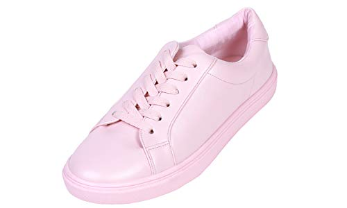 - Feversole Women's Featured PU Leather Colorful Lace-Up Sneaker