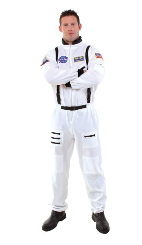 Astronaut Costume Adult - Underwraps Men's Astronaut, White,