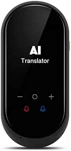Birgus Language Translator Device Two Way Instant Voice Translator Support 106 Languageswith Camera Translation for Travelling Abroad Learning Shopping Business Chat Shopping Black