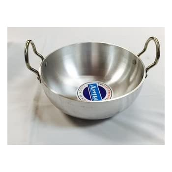 Amazon Com Futura Hard Anodised Deep Fry Pan Kadhai 3 3
