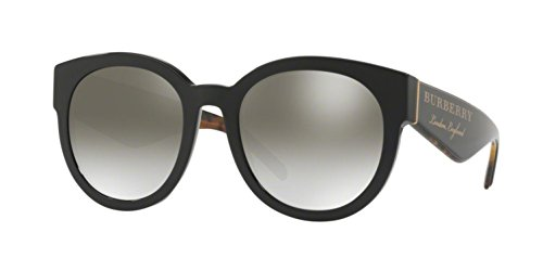 - Burberry Women's BE4260F Sunglasses Black/Gradient Grey Mirror Silver 54mm