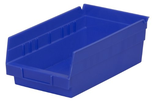Akro-Mils 30130 12-Inch by 6-Inch by 4-Inch Plastic Nesting Shelf Bin Box, Blue, 12 Pack ()