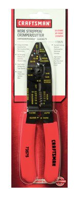 Craftsman Wire Cutter-Stripper and Crimper Pliers, Up-Front, AWG Wire by Craftsman
