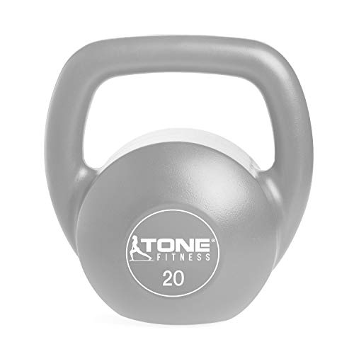 Tone Fitness SDKC2-TN020 Vinyl Kettlebell, 20 LB