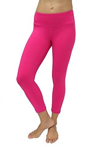90 Degree By Reflex Yoga Capris - Yoga Capris for Women - Hidden Pocket-Honey Rose-M