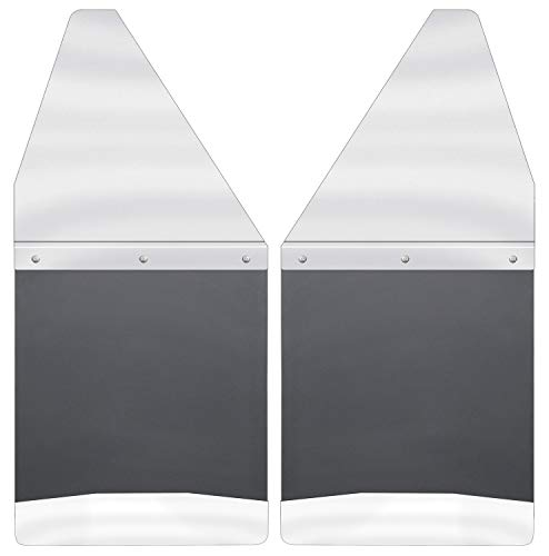 (Husky Liners Kick Back Mud Flaps 12IN Wide - SS Top/Wt Fits Silv/F150/Ram)