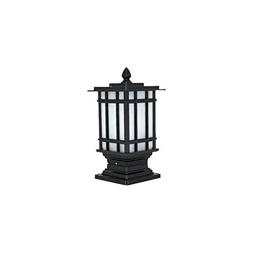 MG Außensäule helles schwarzes Aluminiummetallglas in der rustikalen Art für Außenbereiche ohne Glühlampe (Bahn) E27 [Energieklasse A] 110-240V B07GLH2Z3X | Outlet Online Store