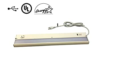 """22"""" LED Under Cabinet with USB Charging Port and Convenience Outlet - Eco II Series G22-WH-CP-CO-U by Radionic Hi-Tech"""