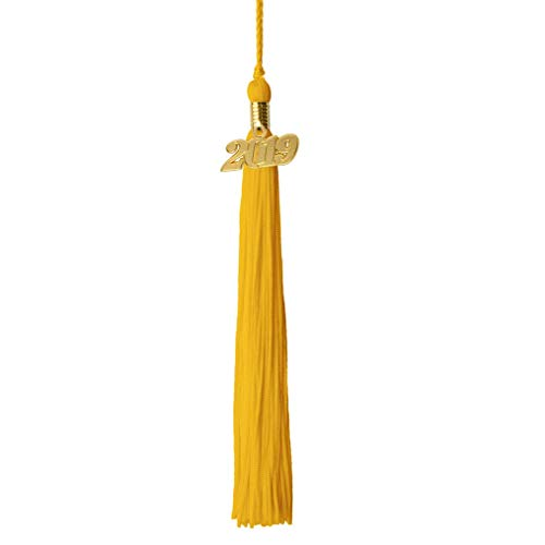 GraduationRoyal 9 inch Graduation Tassel with Gold 2019 Year Charm (2019, Gold)