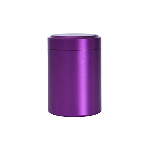 kebyy Portable Mini Tea Can Aluminum Herb Stash Jar Seal Smell Proof Container Spice Organizer Storage Pot