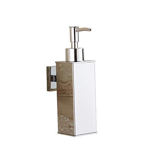 BGL Chrome 304 Stainless Steel Soap Dispenser Wall Mount Bathroom Liquid Soap Dispenser for Bathroom (Silver) (Chrome Mount Dispenser Wall Soap)