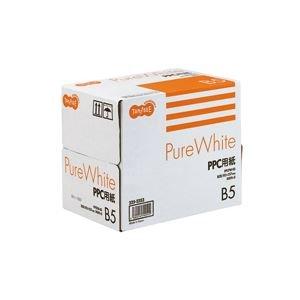 (まとめ) TANOSEE PPC用紙 Pure White B5 1箱(2500枚:500枚×5冊) 〔×10セット〕 B0759X975J