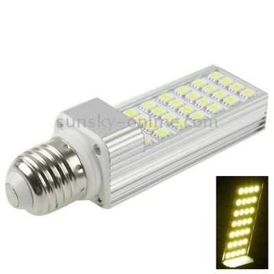 Lamp E27 6W 480LM LED Transverse Light Bulb, 28 LED SMD 5050, White Light, AC 85-265V Durable (Color : Color2)