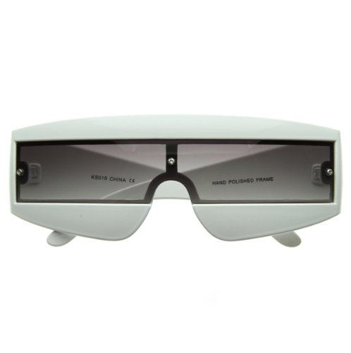 zeroUV - Futuristic Wrap Around Daft Punk Party Novelty Sunglasses - Futuristic Zerouv