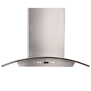Cavaliere SV218D-36 36 Wall Mounted Stainless Steel/Glass Kitchen Range Hood 900 CFM