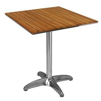 ILINEO - Table Carrée Extérieur Terrasse Jardin en Aluminium ...