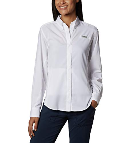 Columbia Women's PFG Tamiami II Long Sleeve Shirt , White, Small