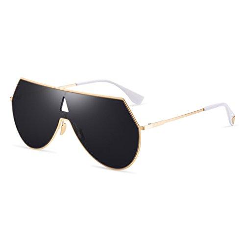 Et Shot Noir Personnalité soleil Street États Les Europe Unis de Hommes Cool One Dames lunettes Des Réfléchissant HL Frame New vZ11q8