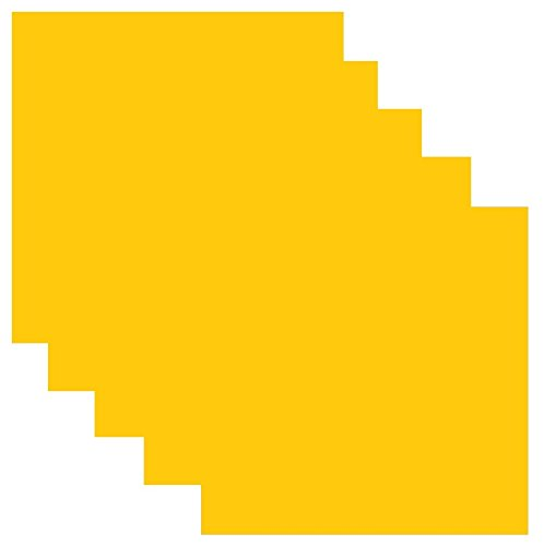 SISER EasyWeed Heat Transfer Vinyl HTV for T-Shirts 12 x 12 Inches 5 Precut Sheets (Yellow)