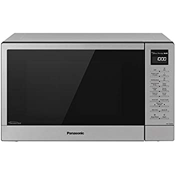 Panasonic NN-GN68KS Countertop Microwave Oven with FlashXpress, 3-in-1 Broiler, Food Warmer, Plus Genius Sensor Cooking- 1.1 cu. ft, Stainless Steel/Silver