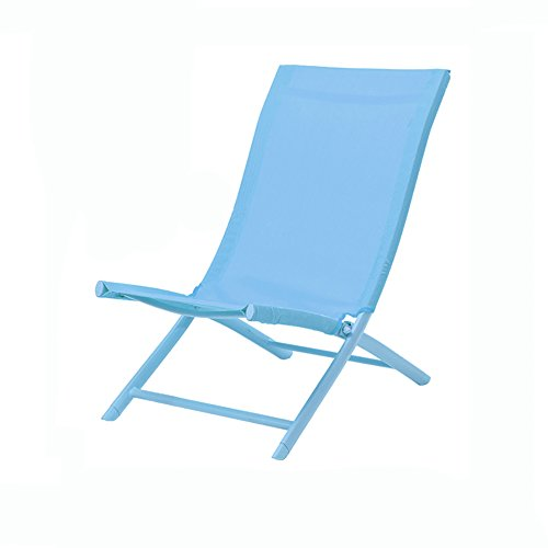 Outdoor folding camping chair, Beach fishing chair Canvas Recliners American Lounge chair Aluminum Portable Leisure chair-Blue W48xH85cm(19x33inch)